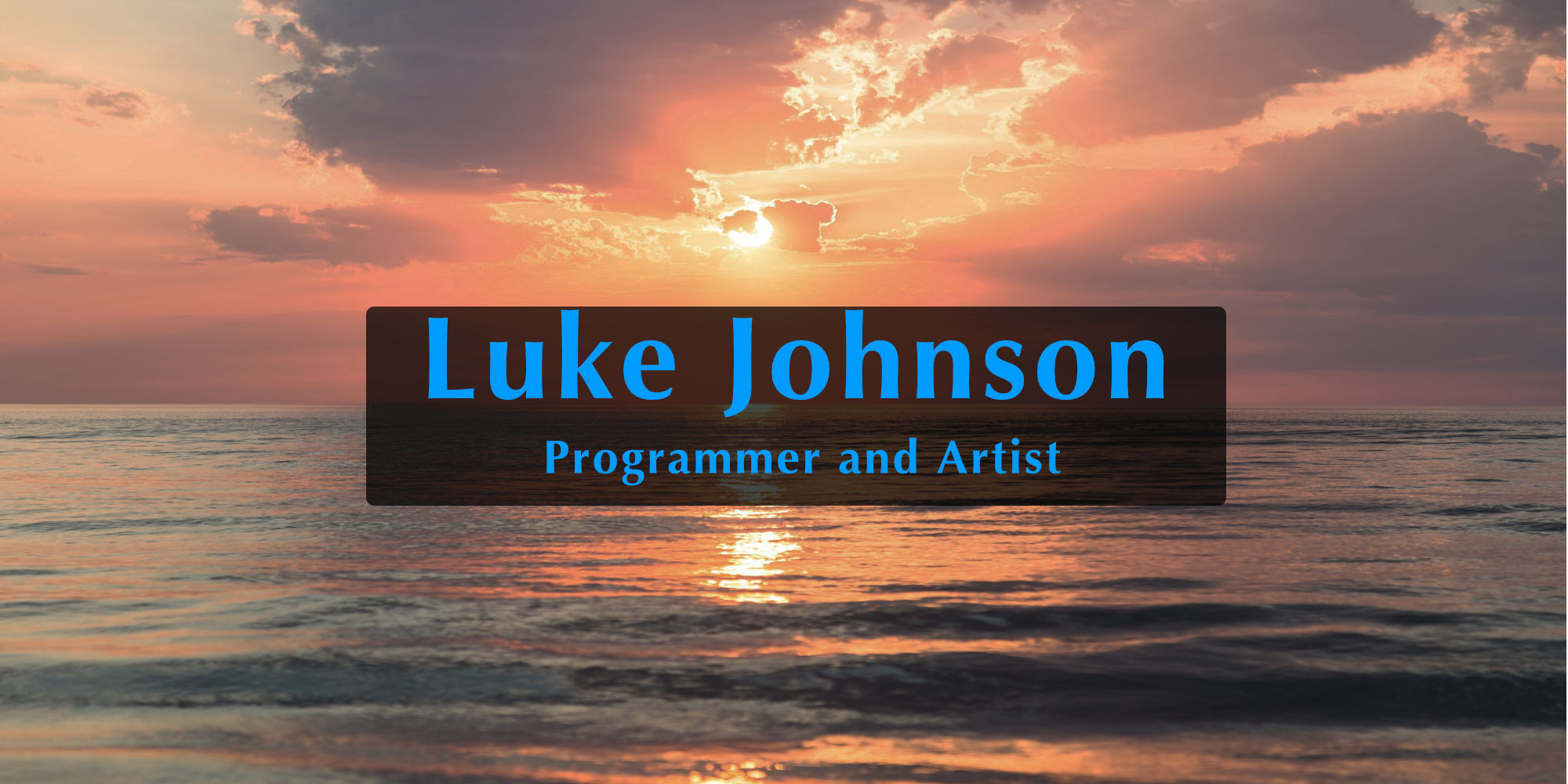 Luke Johnosn | Programmer and Artist