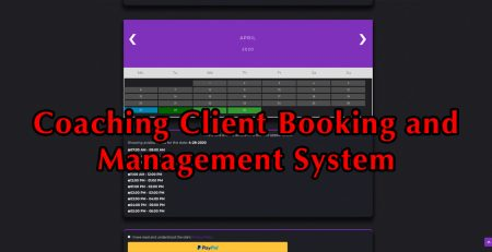 coaching client booking and management system